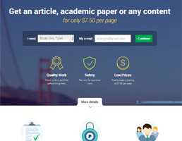 Edusson Essay Writing Service website preview