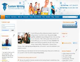 Custom-Writing website preview