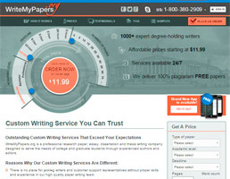 WriteMyPapers website preview