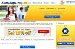 Samedayessay website preview