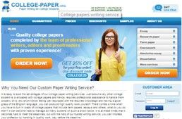 College-paper website preview