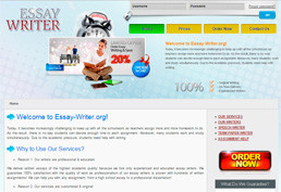 Essay-writer website preview