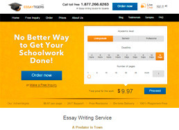 EssayTigers website preview