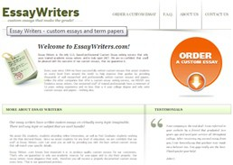 Essaywriters website preview