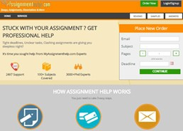 Myassignmenthelp website preview