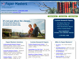 Papermasters website preview